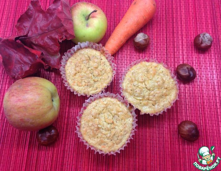 Рецепт: Яблочно-морковные маффины
