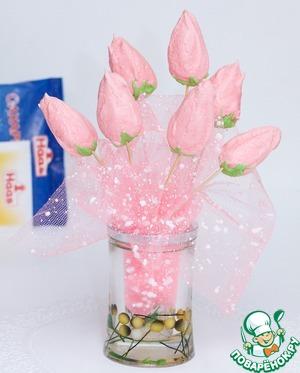 Рецепт: Пирожное-меренги Тюльпаны
