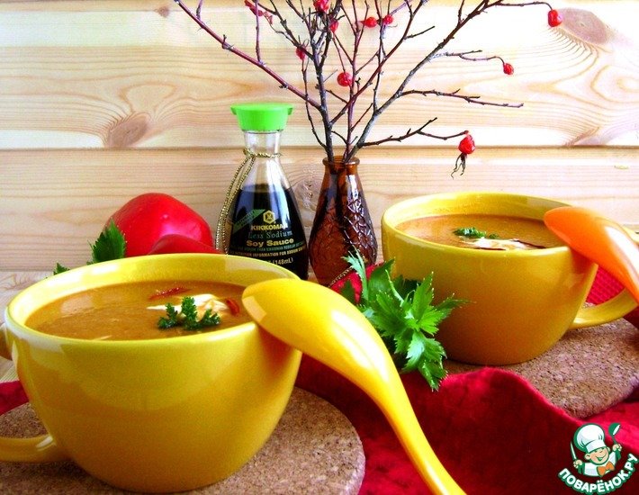 Рецепт: Пряный овощной суп-пюре