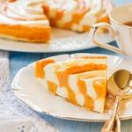 Тыквенно-творожный пирог Зебра