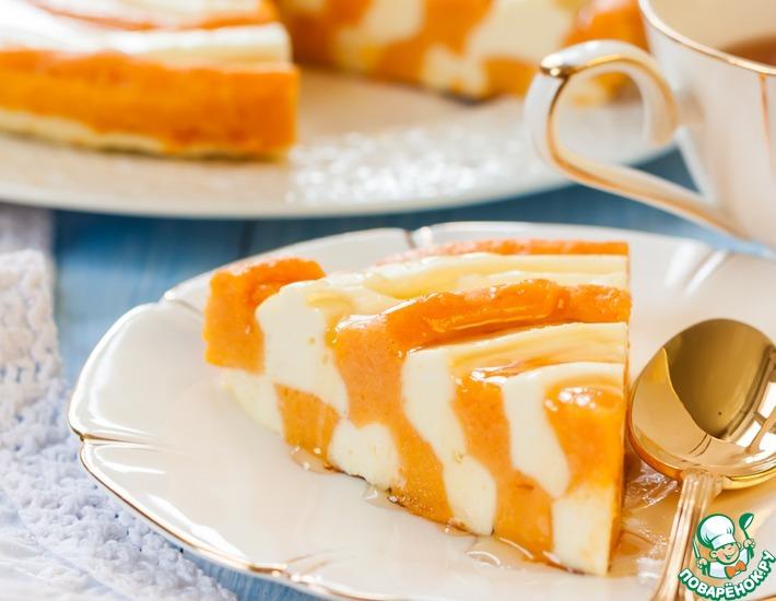 Рецепт: Тыквенно-творожный пирог Зебра