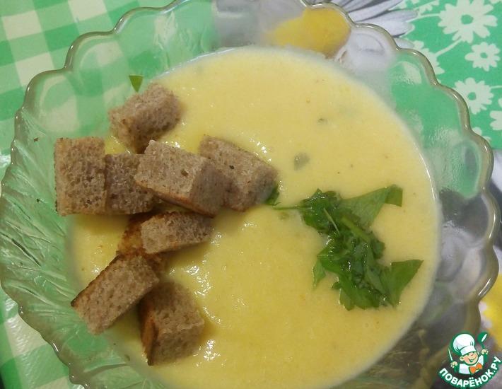 Рецепт: Тыквенный крем-суп для всей семьи