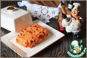 Закусочное масло с вялеными томатами