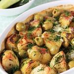 Картофель, запечённый в сливках
