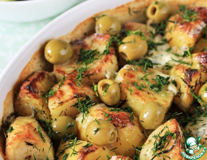 Рецепт: Картофель, запечённый в сливках