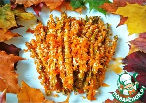 Amazing asparagus in breadcrumbs