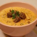 Тыквенный крем-суп с кинзой
