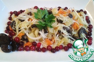 Рецепт: Салат грибной зимний