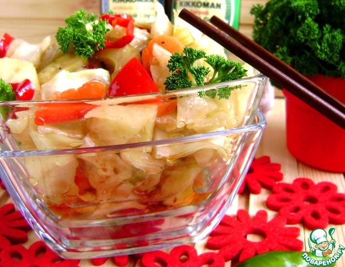 Рецепт: Острая капуста с овощами