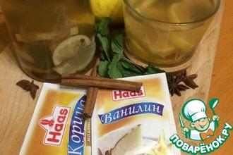 Рецепт: Лимонный чайный напиток Свежесть