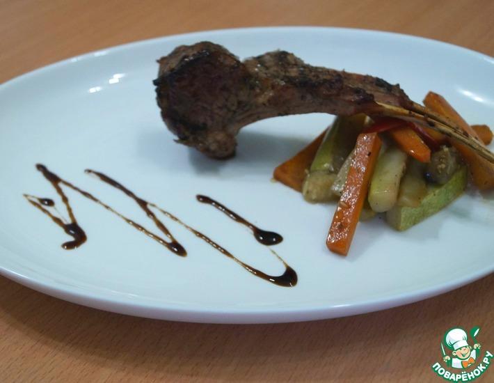 Рецепт: Каре ягненка и соте из овощей