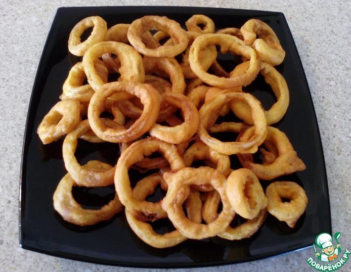 Рецепт: Луковые кольца в воздушном кляре