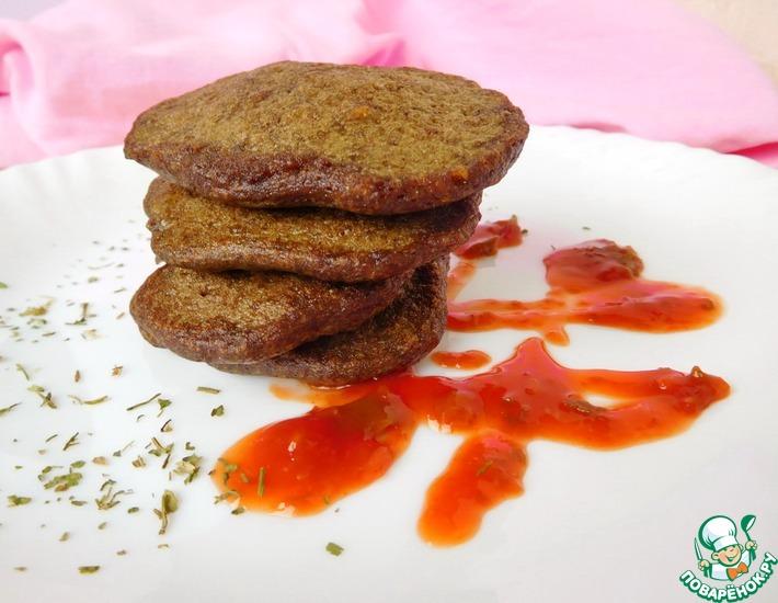 Рецепт: Печеночные оладьи с фаршем
