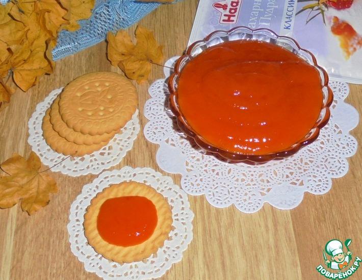 Рецепт: Джем-десерт из тыквы и грейпфрута
