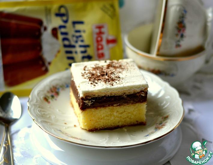 Рецепт: Десерт Словацкий колач с пудингом