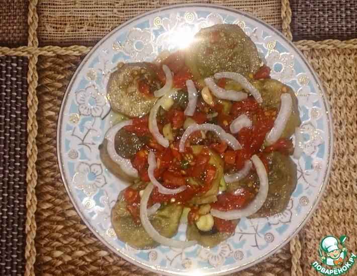 Рецепт: Баклажаны в томатной заливке