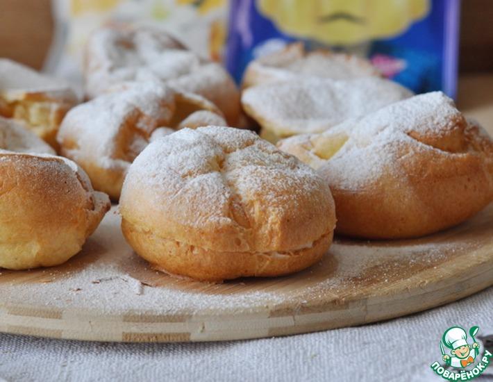 Рецепт: Выпрыгивающие булочки Поповеры с пудингом