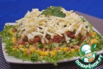 Рецепт: Салат с тунцом Легкий