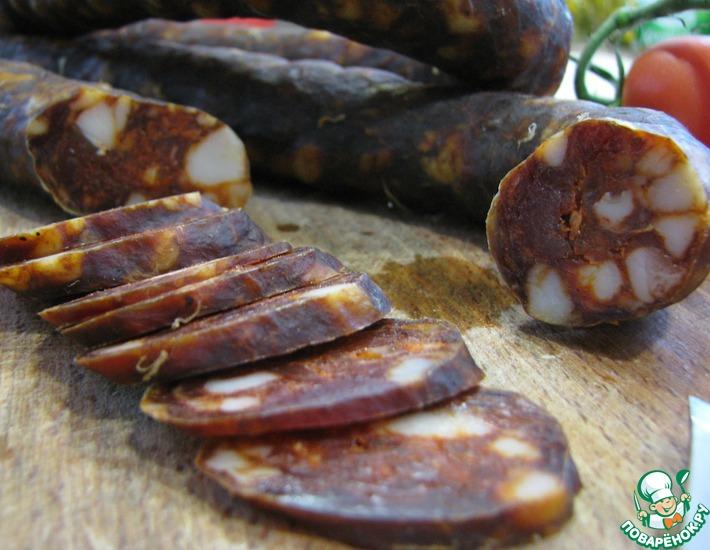 Рецепт: Свиная колбаса Чоризо в домашних условиях