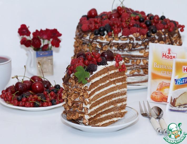 Рецепт: Торт медовый с корицей