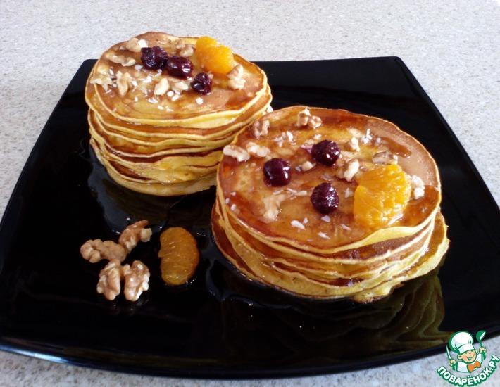 Рецепт: Тыквенные панкейки Оранжевая осень