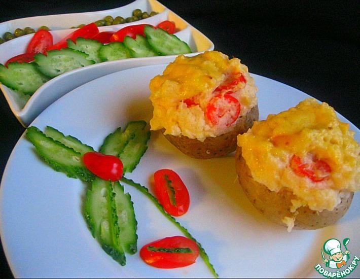Рецепт: Запечённый картофель Суфле