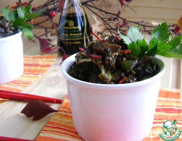 Рецепт: Пряные имбирные баклажаны