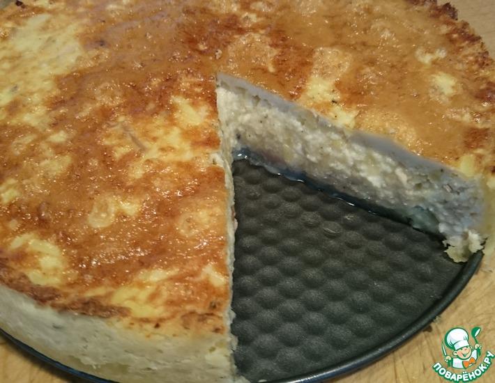 Рецепт: Картофельный пирог с курицей и сыром