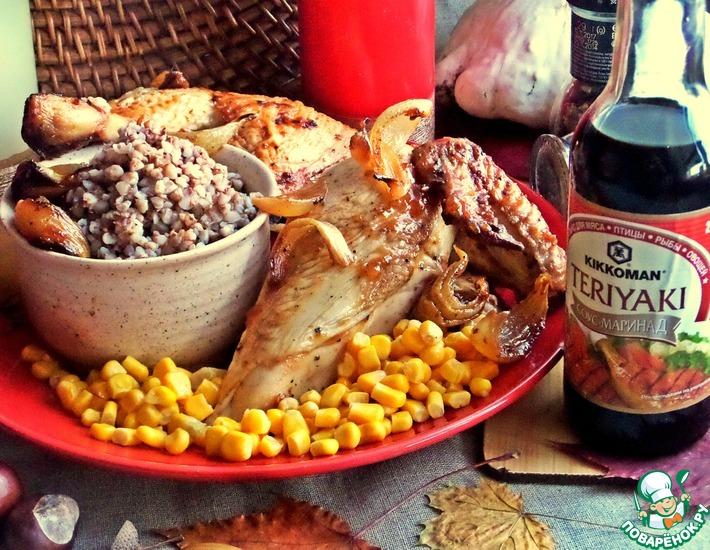 Рецепт: Курица с луком в духовке