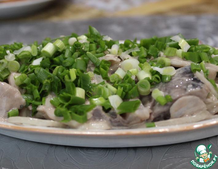 Рецепт: Сельдь под горчичным соусом по-старорусски