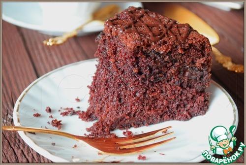 """Рецепт Шоколадный манник с шоколадной начинкой """"Шокоман"""""""