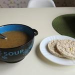 Суп-пюре из фасоли и шампиньонов