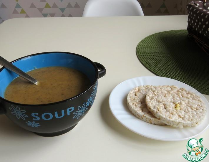 Рецепт: Суп-пюре из фасоли и шампиньонов