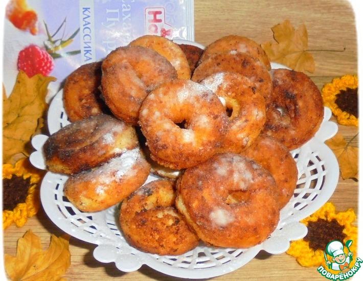 Рецепт: Творожно-миндальные пончики