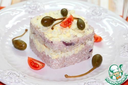Рецепт Рисовый салат с запеченной корюшкой