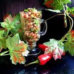Куриный салат с фасолью Теплая осень