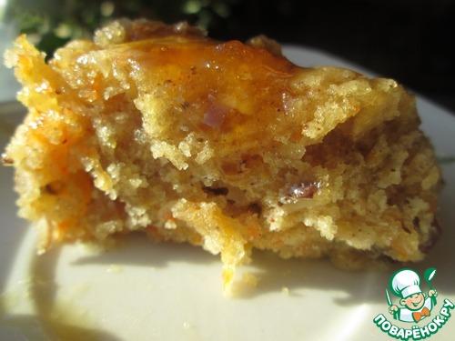 Рецепт Морковный кекс с орехами и изюмом
