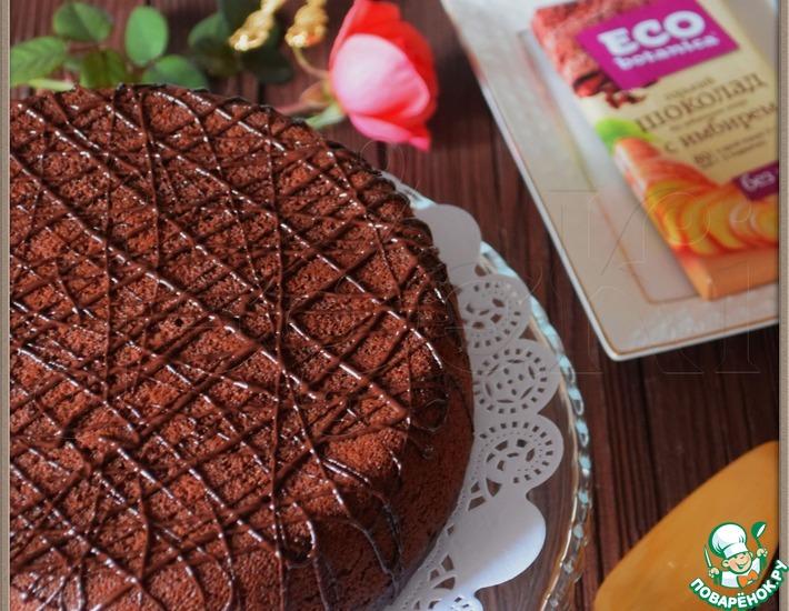 Рецепт: Шоколадный манник с шоколадной начинкой Шокоман