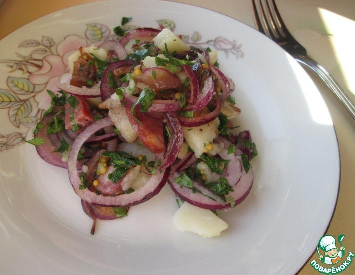 Рецепт: Немецкий картофельный салат с беконом