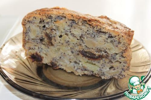 Рецепт Пирог с яблоками, финиками и маком