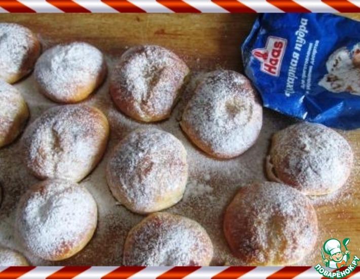 Рецепт: Финские булочки Масляный глаз