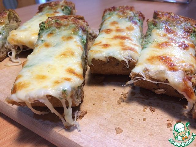 Рецепт Итальянский чесночный хлеб за 30 мин