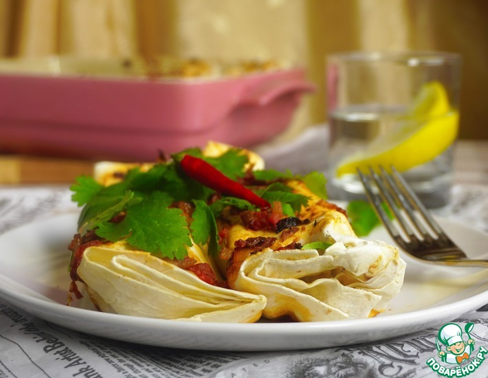 Рецепт: Энчиладос с курицей