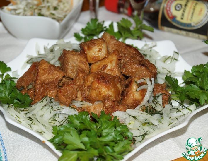Рецепт: Свинина в ядреном соево-винном маринаде
