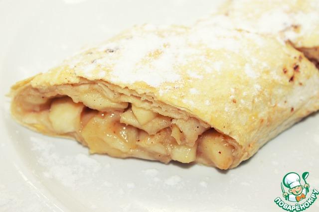 Рецепт Яблочный штрудель из лаваша