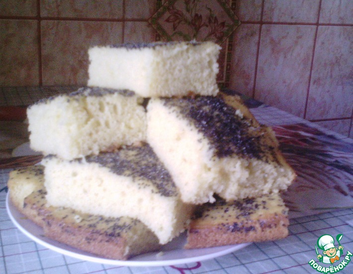 Рецепт: Кекс на кефире от мамы Наташи