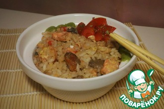 Рецепт: Рис с морепродуктами Как тепаньяки