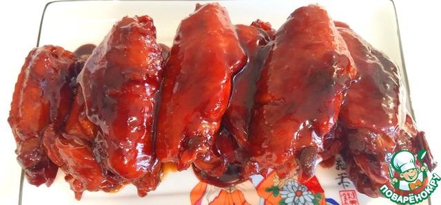 Рецепт Жареные куриные крылышки в красном соусе