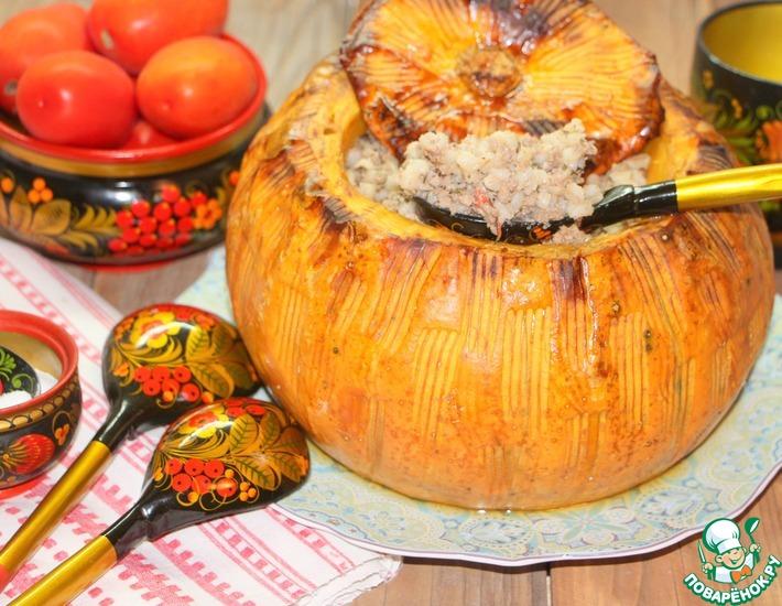 Рецепт: Перловка с мясом Огородная царица