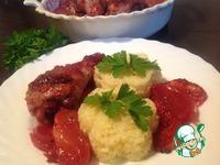 Рецепт Курица в брусничном соусе